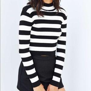 MINKPINK Montmarte Cropped Turtleneck Sweater (Sm)